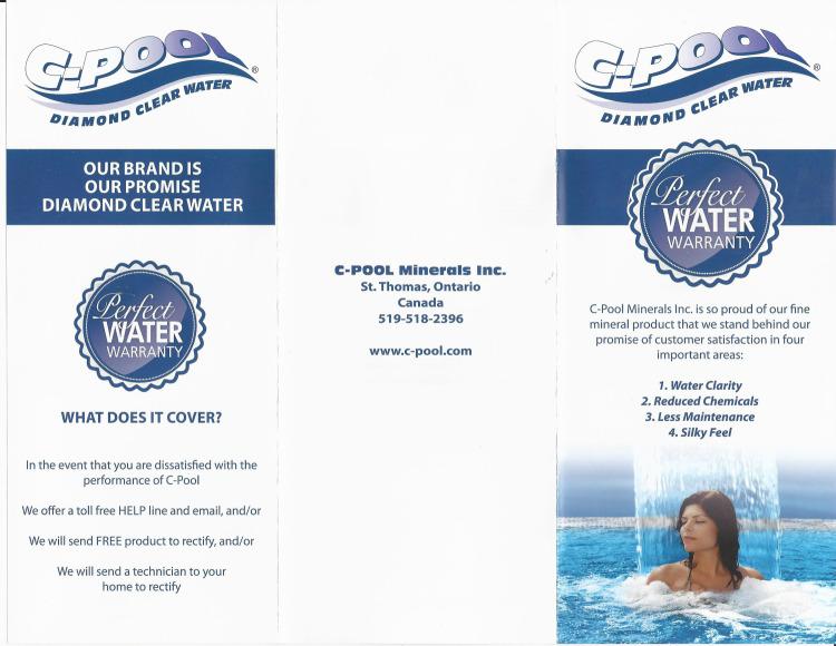 C-Pool Perfect Water Warranty Brochure-2