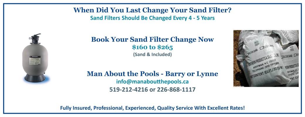 Sand Filter Change