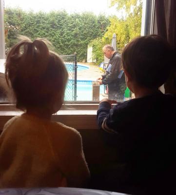 Kids Watching Barry Work